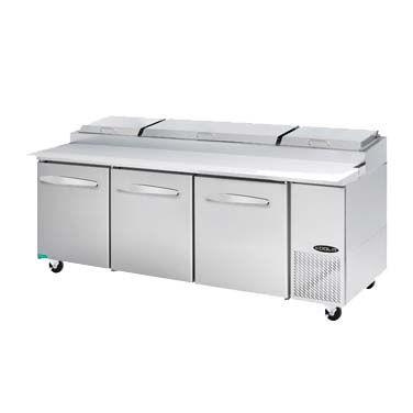 MVP KPT-93-3 refrigerated counter, pizza prep table