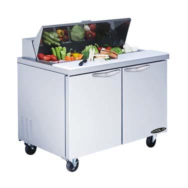 MVP KST-48-2 refrigerated counter, sandwich / salad unit