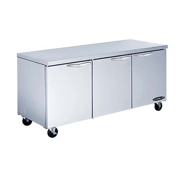 MVP KUCR-72-3 refrigerator, undercounter, reach-in
