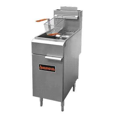 MVP SRF-35/40-NG fryer, gas, floor model, full pot