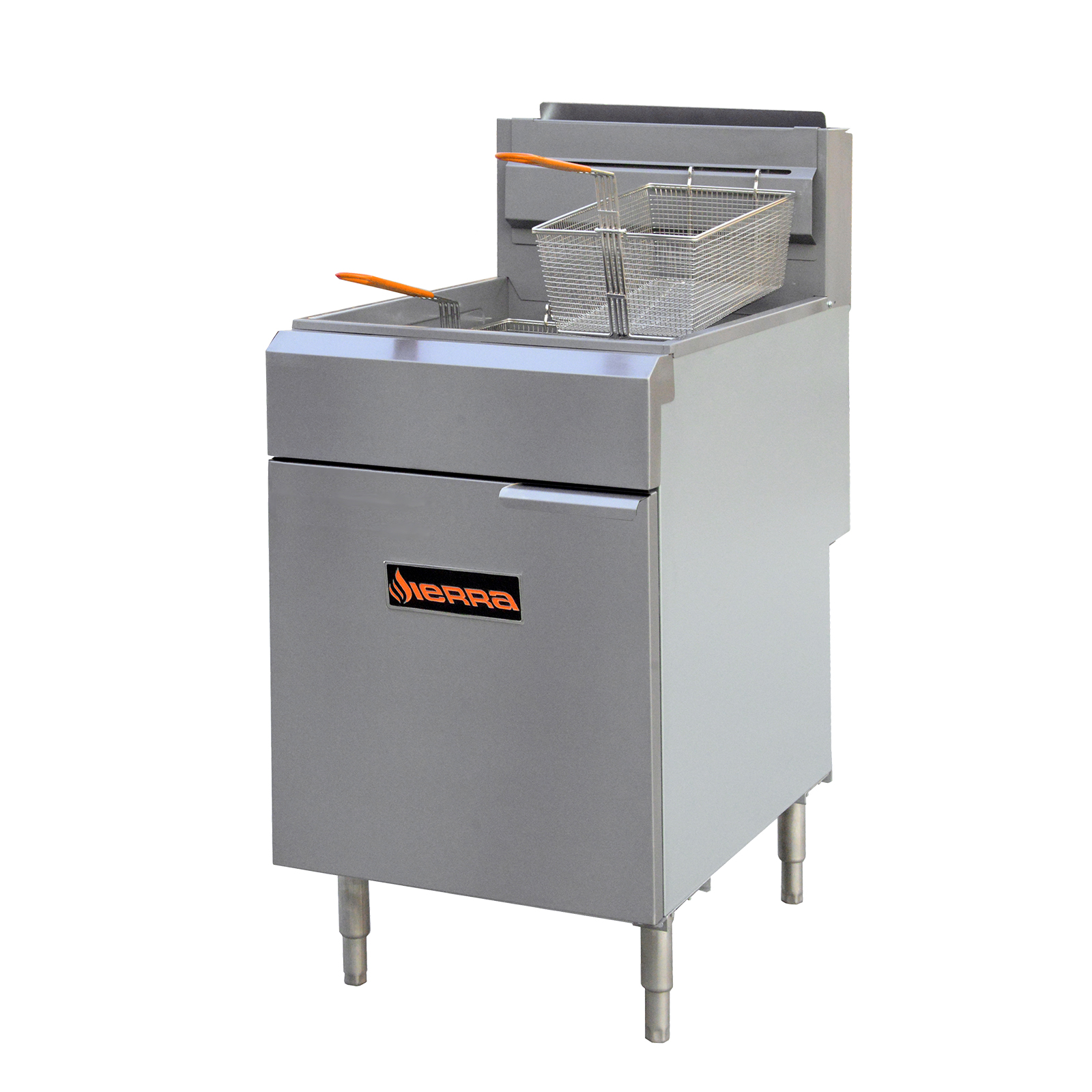 MVP SRF-75/80-NG fryer, gas, floor model, full pot