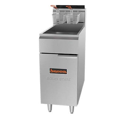 MVP SRF-SC-40/50-NG fryer, gas, floor model, full pot
