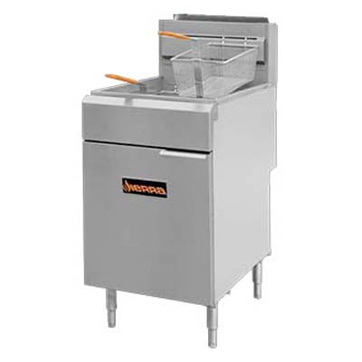 MVP SRF-SC-75/80-NG fryer, gas, floor model, full pot