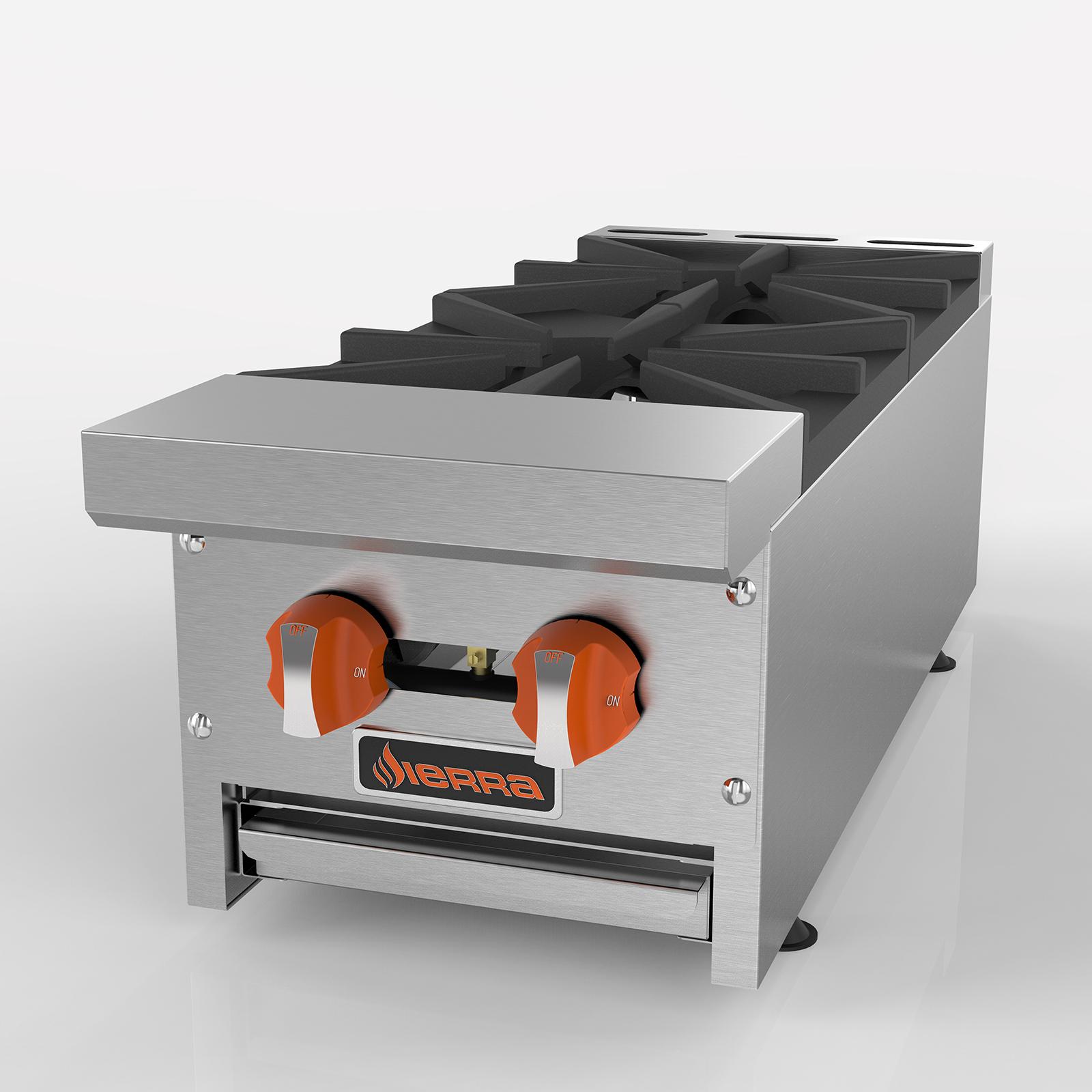 MVP SRHP-2-12 hotplate, countertop, gas