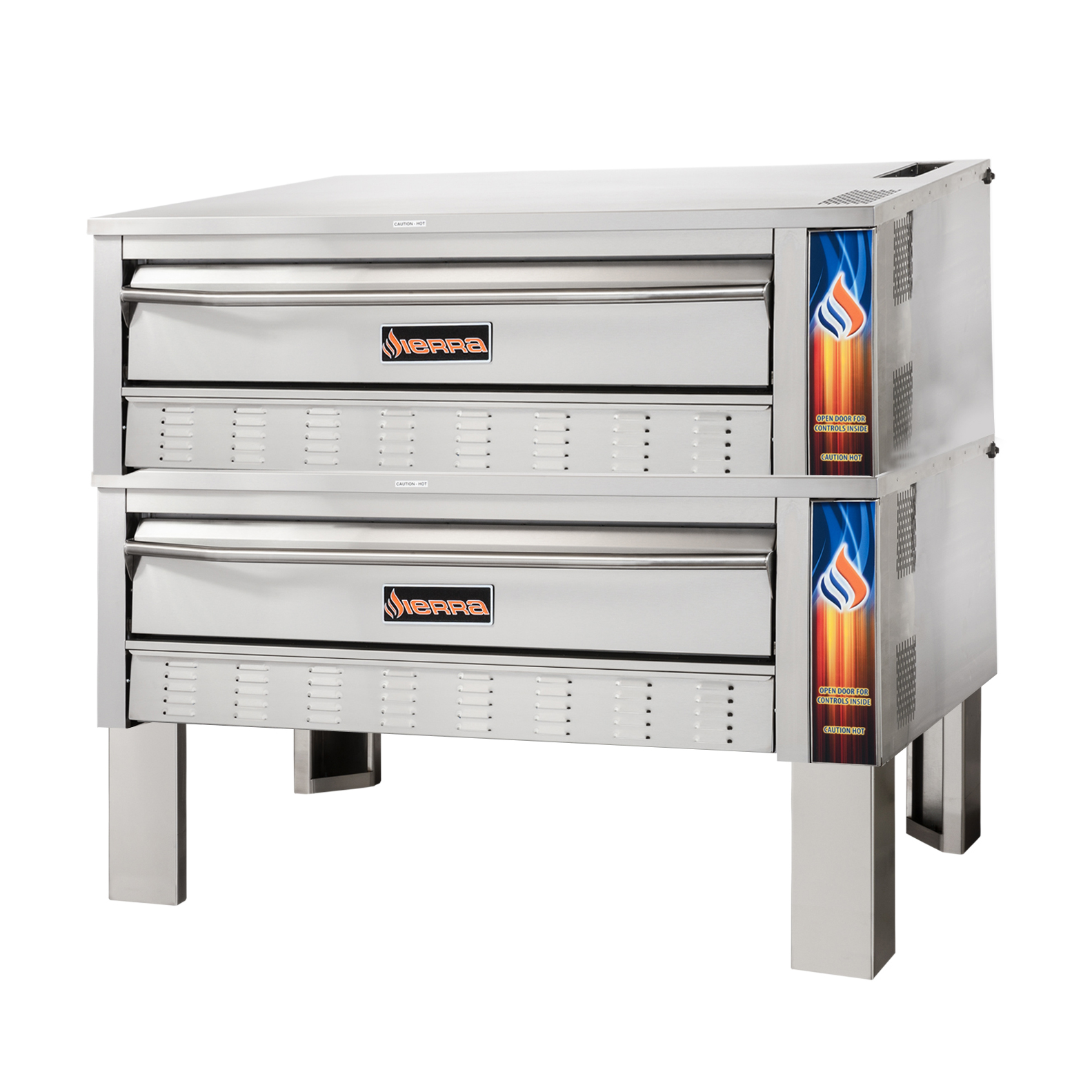 MVP SRPO-60G-2 pizza bake oven, deck-type, gas