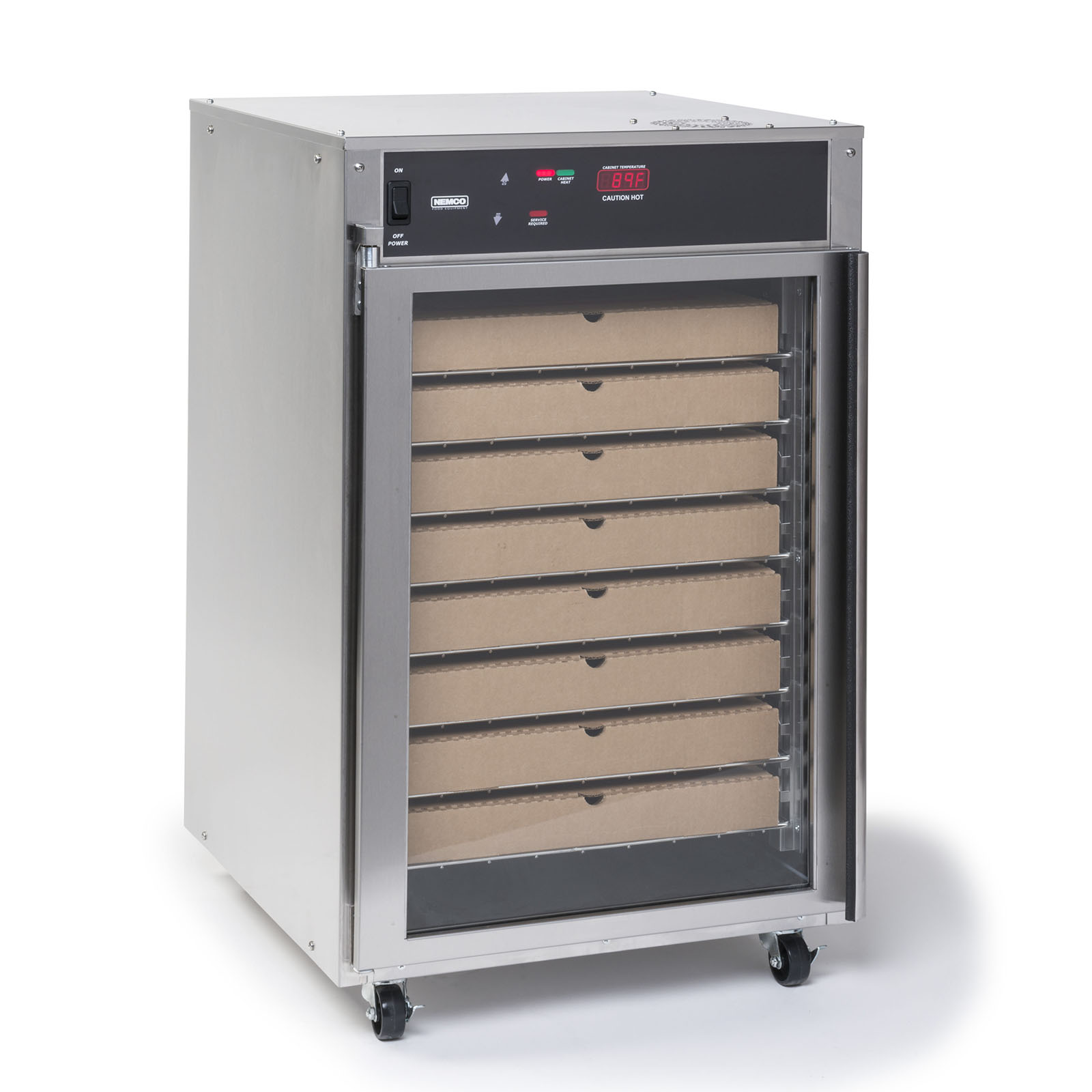 Nemco Food Equipment 6410 heated cabinet, mobile, pizza