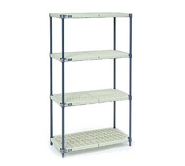 NEXEL PM18727N shelving unit, plastic with metal post