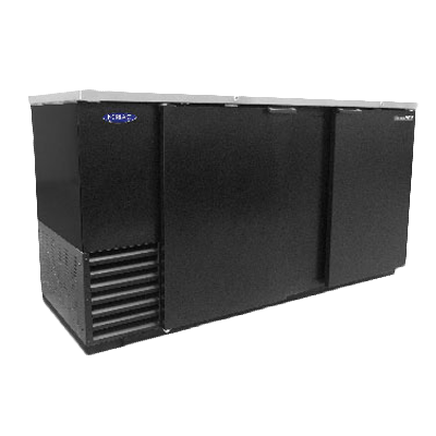 Nor-Lake NLBB69 back bar cabinet, refrigerated
