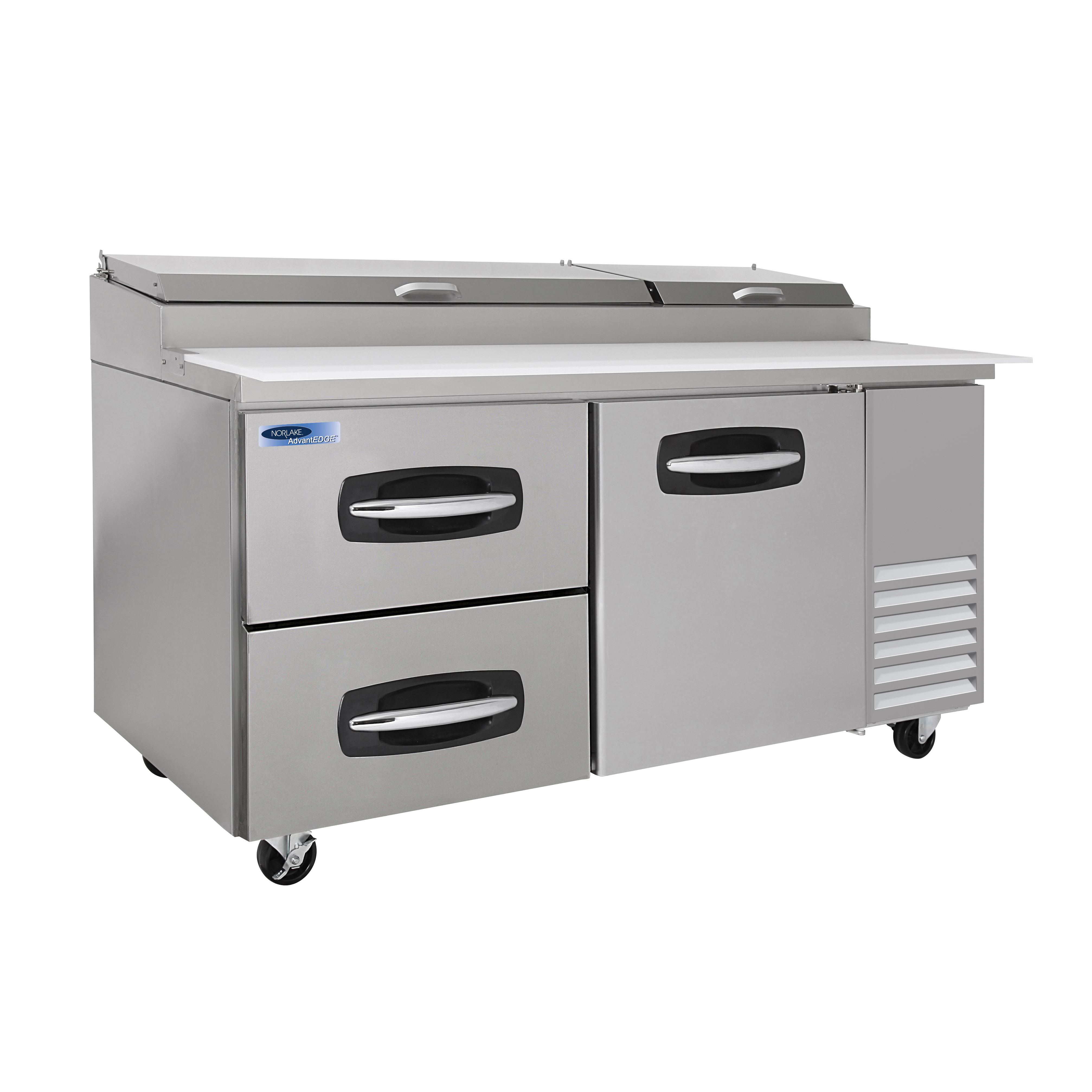 Nor-Lake NLPT67-003B refrigerated counter, pizza prep table