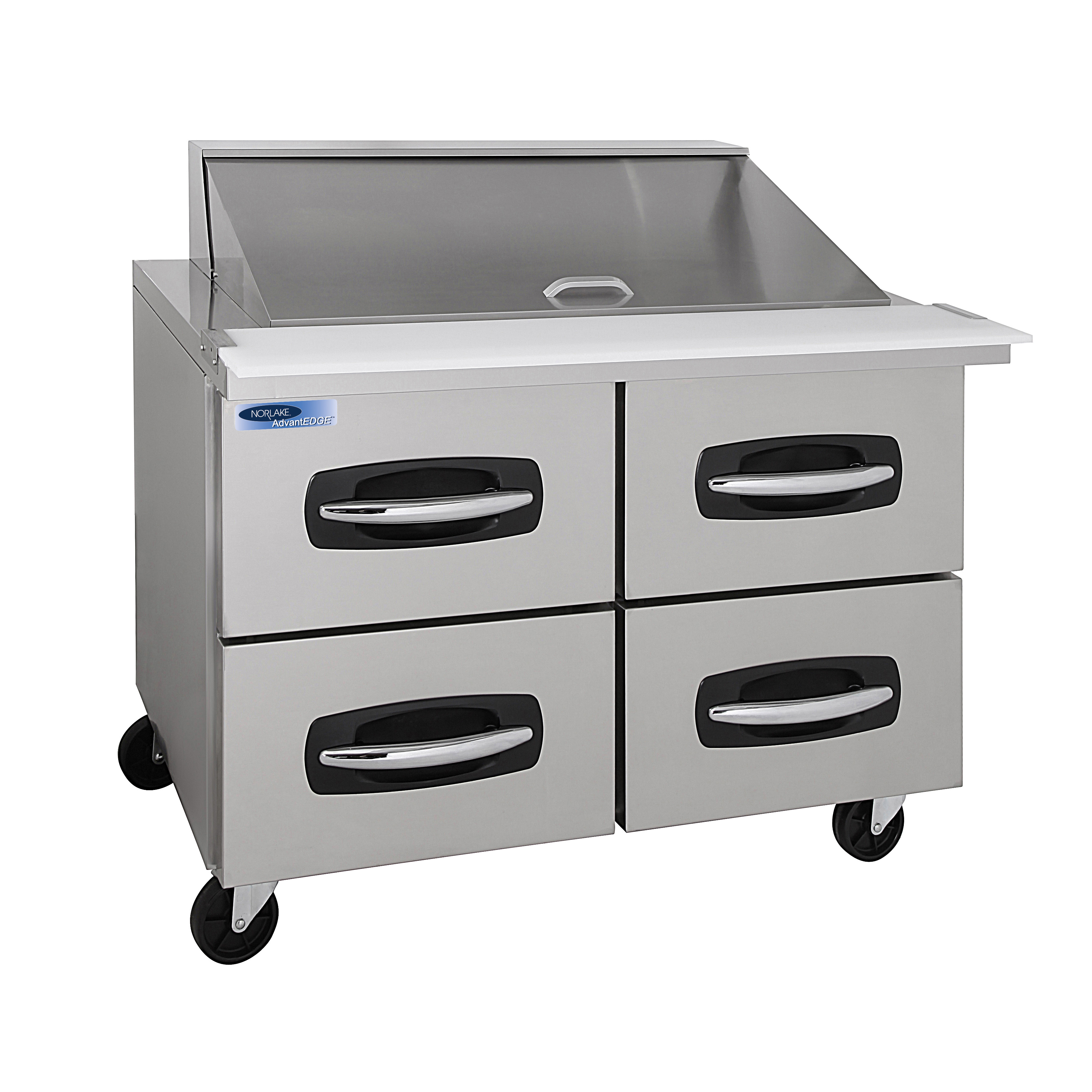 Nor-Lake NLSMP48-18A-001B refrigerated counter, mega top sandwich / salad unit