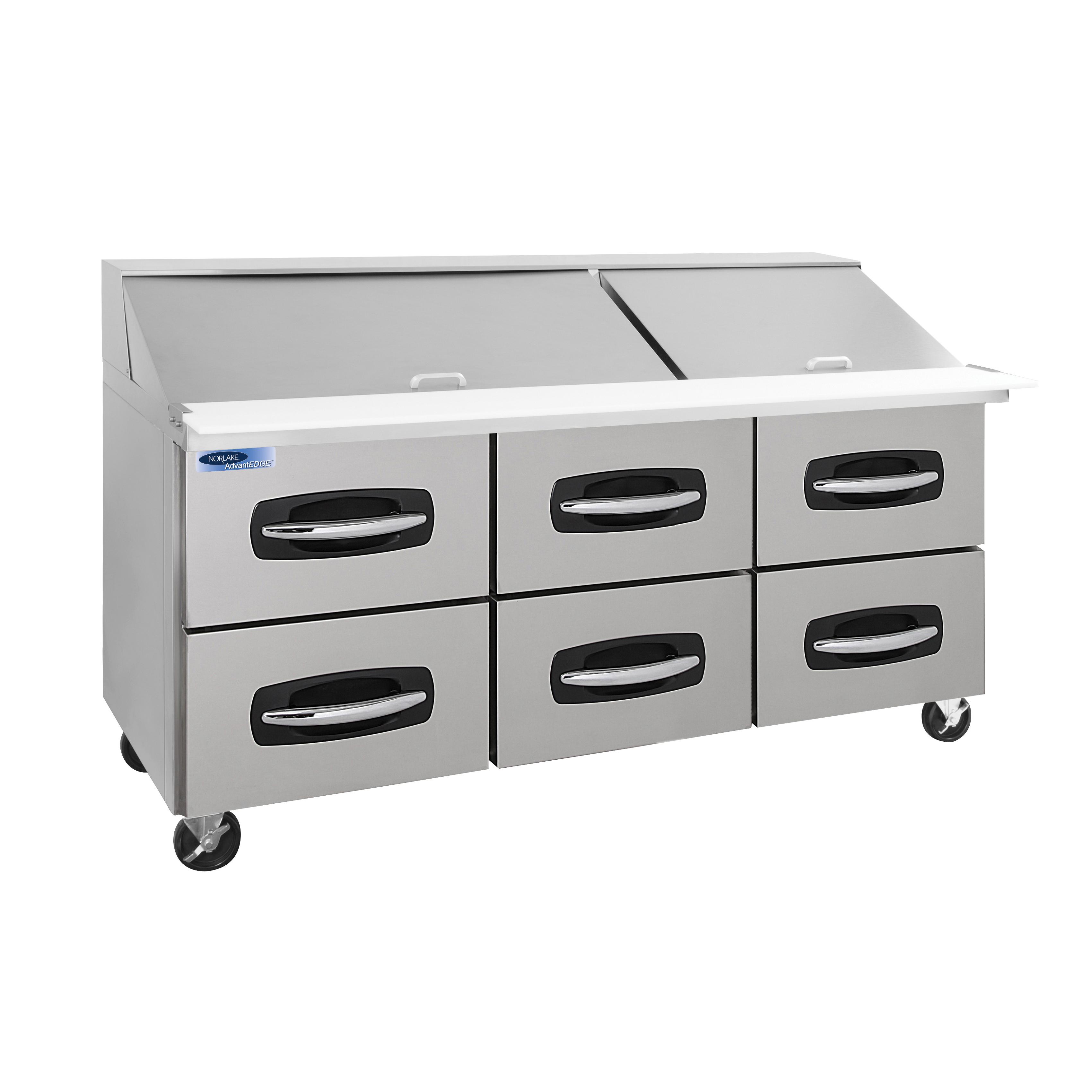 Nor-Lake NLSMP72-30A-001B refrigerated counter, mega top sandwich / salad unit