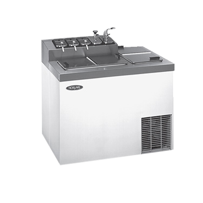 Nor-Lake ZF124WVS/0 ice cream dipping cabinet with syrup rail