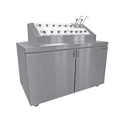 Nor-Lake ZR152SMS/0 ice cream dipping cabinet with syrup rail