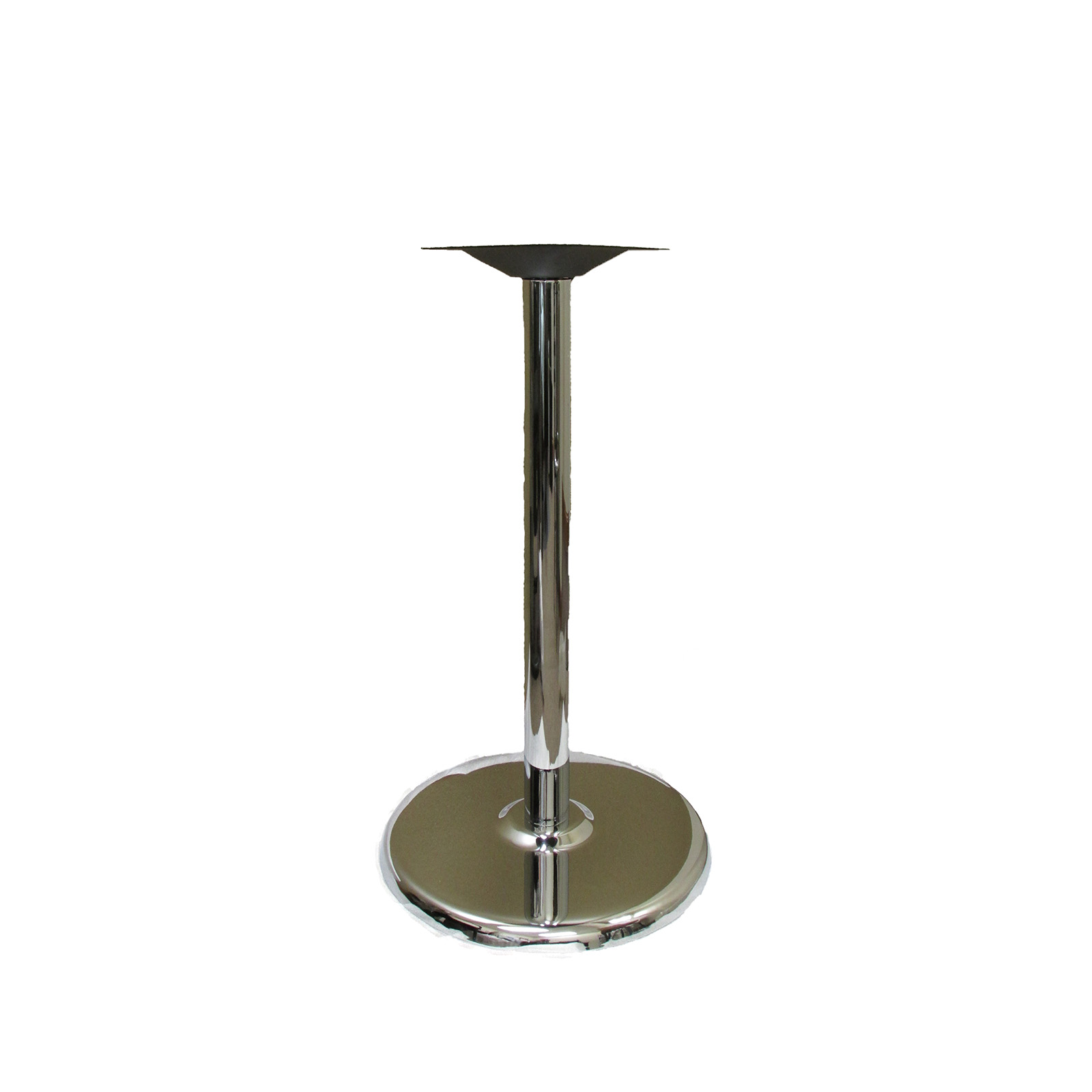 Oak Street B18DISC-CHR-BAR table base, metal