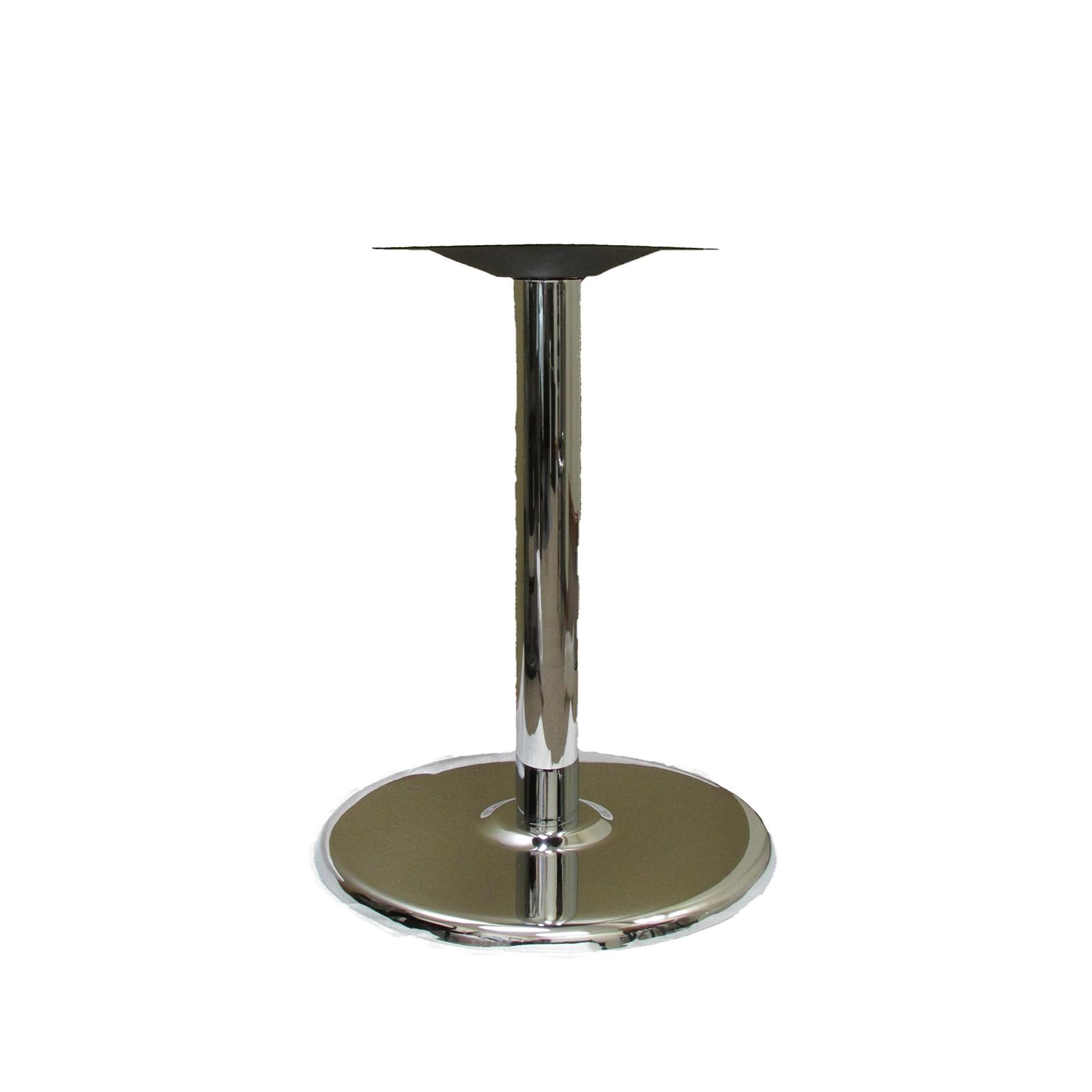Oak Street B18DISC-CHR-STD table base, metal