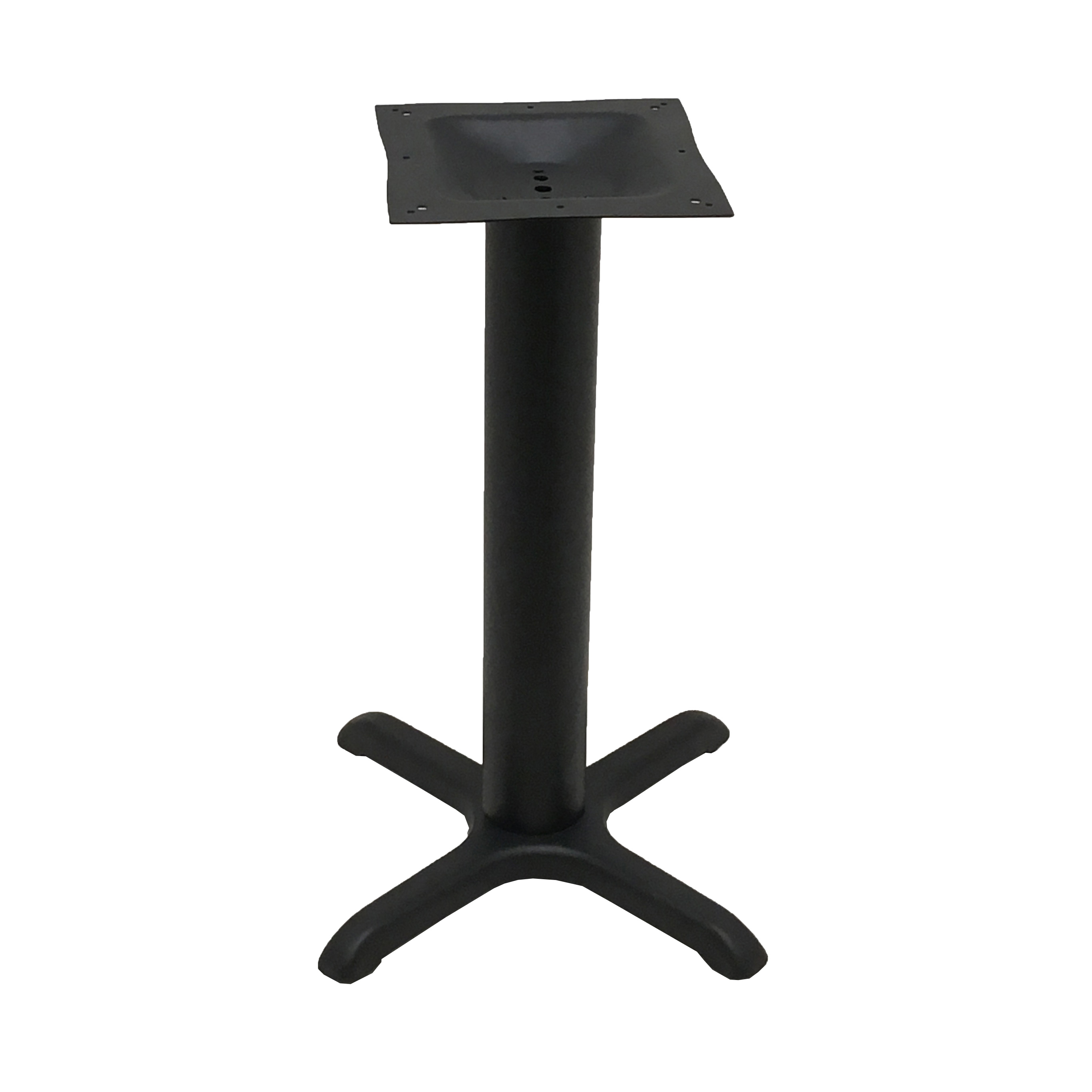 Oak Street B22-4-STD table base, metal