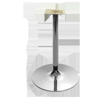 Oak Street B22DISC-CHR-STD table base, metal