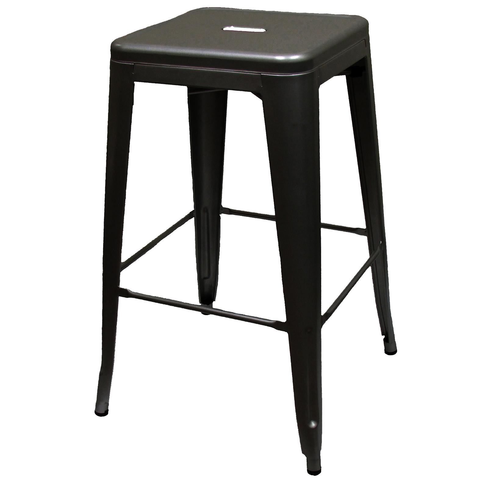 Oak Street BB-820-BLK-XL bar stool, stacking, indoor