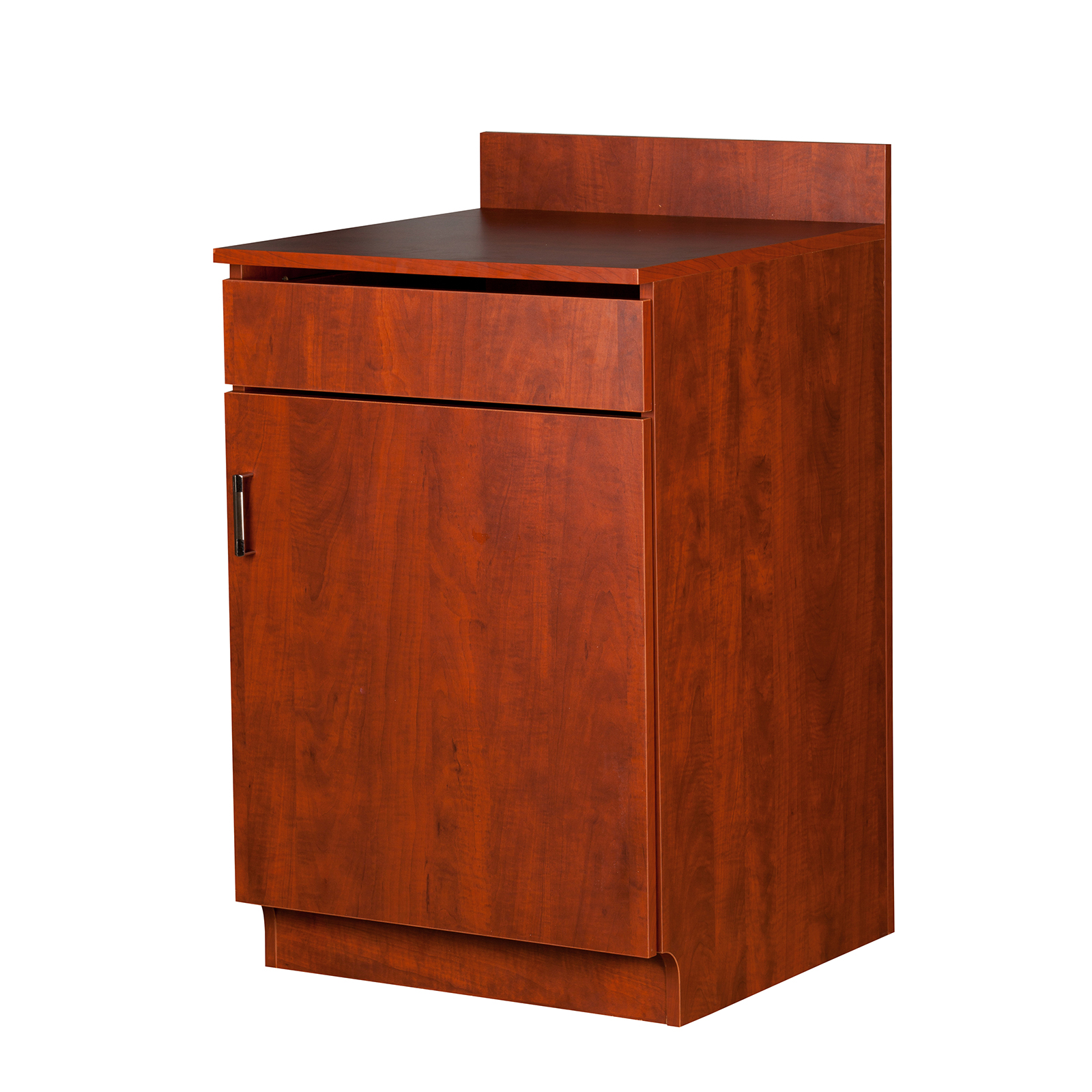 Oak Street M8210-CHERRY-ASSEMBLED wait station cabinet
