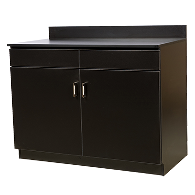 Oak Street M8220-BLK-ASSEMBLED wait station cabinet