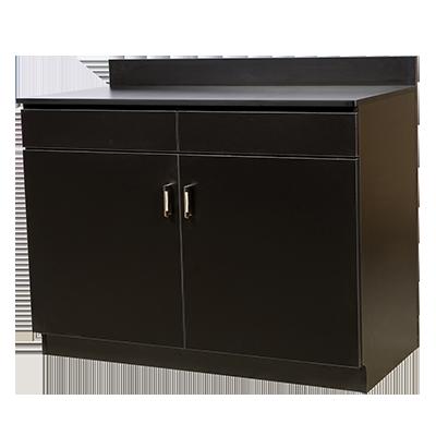 Oak Street M8220-BLK-UNASSEMBLED wait station cabinet