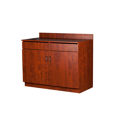 Oak Street M8220-CHERRY-ASSEMBLED wait station cabinet