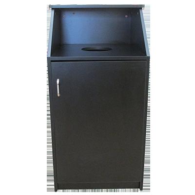 Oak Street M8510-BLK-UNASSEMBLED trash receptacle, cabinet style