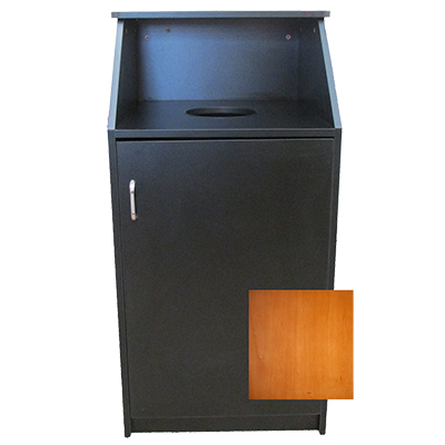 Oak Street M8510-CH-ASSEMBLED trash receptacle, cabinet style