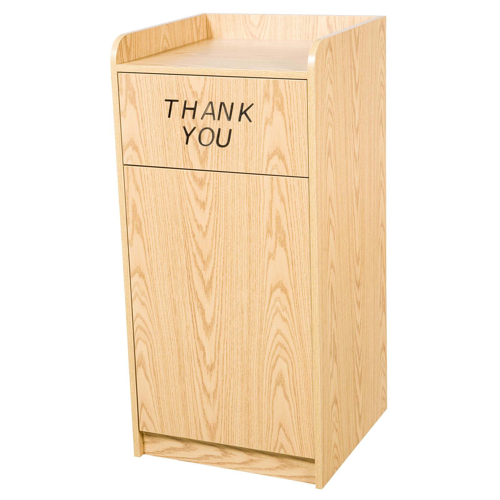 Oak Street M8520-OAK-ASSEMBLED trash receptacle, cabinet style