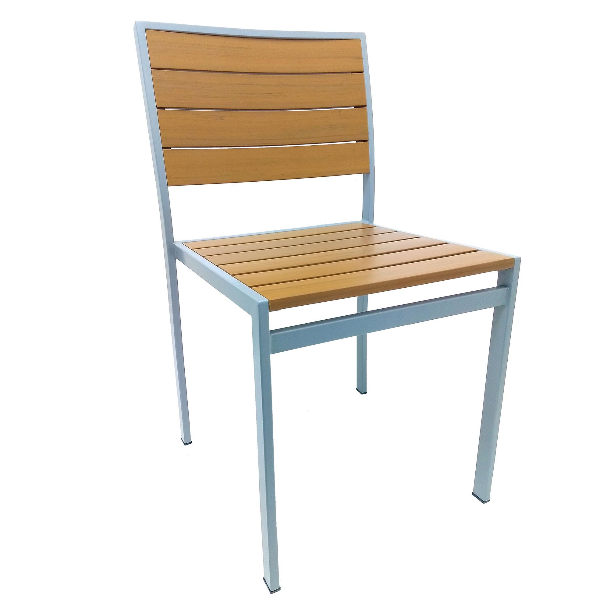 Oak Street OD-CM-TEAK chair, side, outdoor