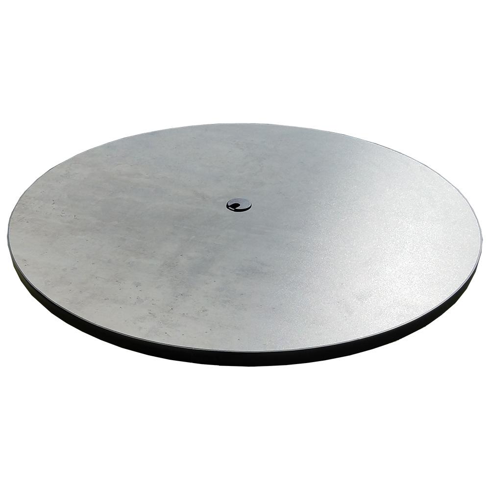 Oak Street PBUM36RNDUH-WC table top, molded laminate