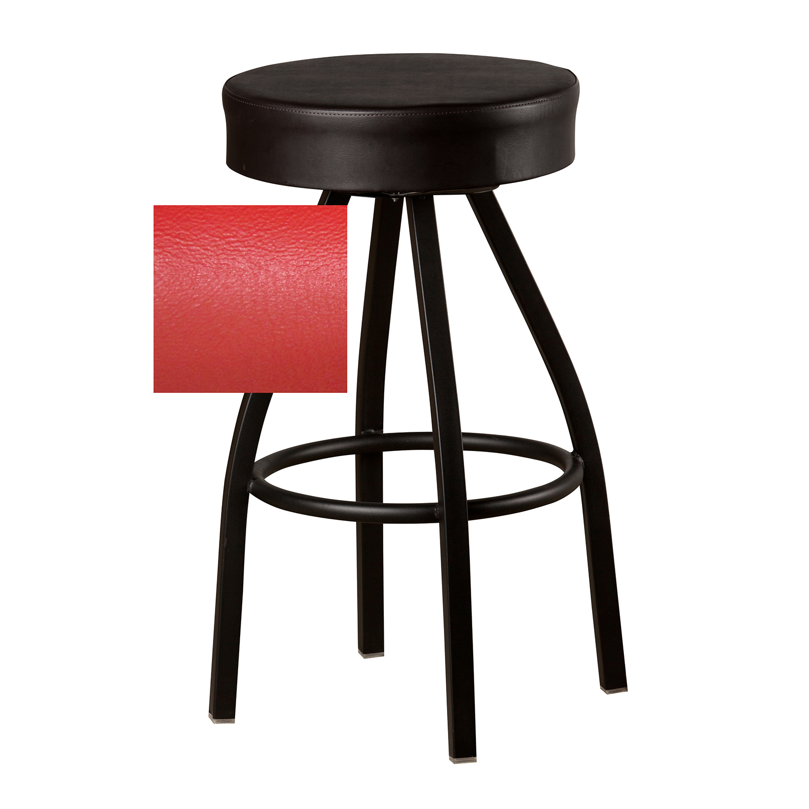 Oak Street SL0137-RED bar stool, swivel, indoor