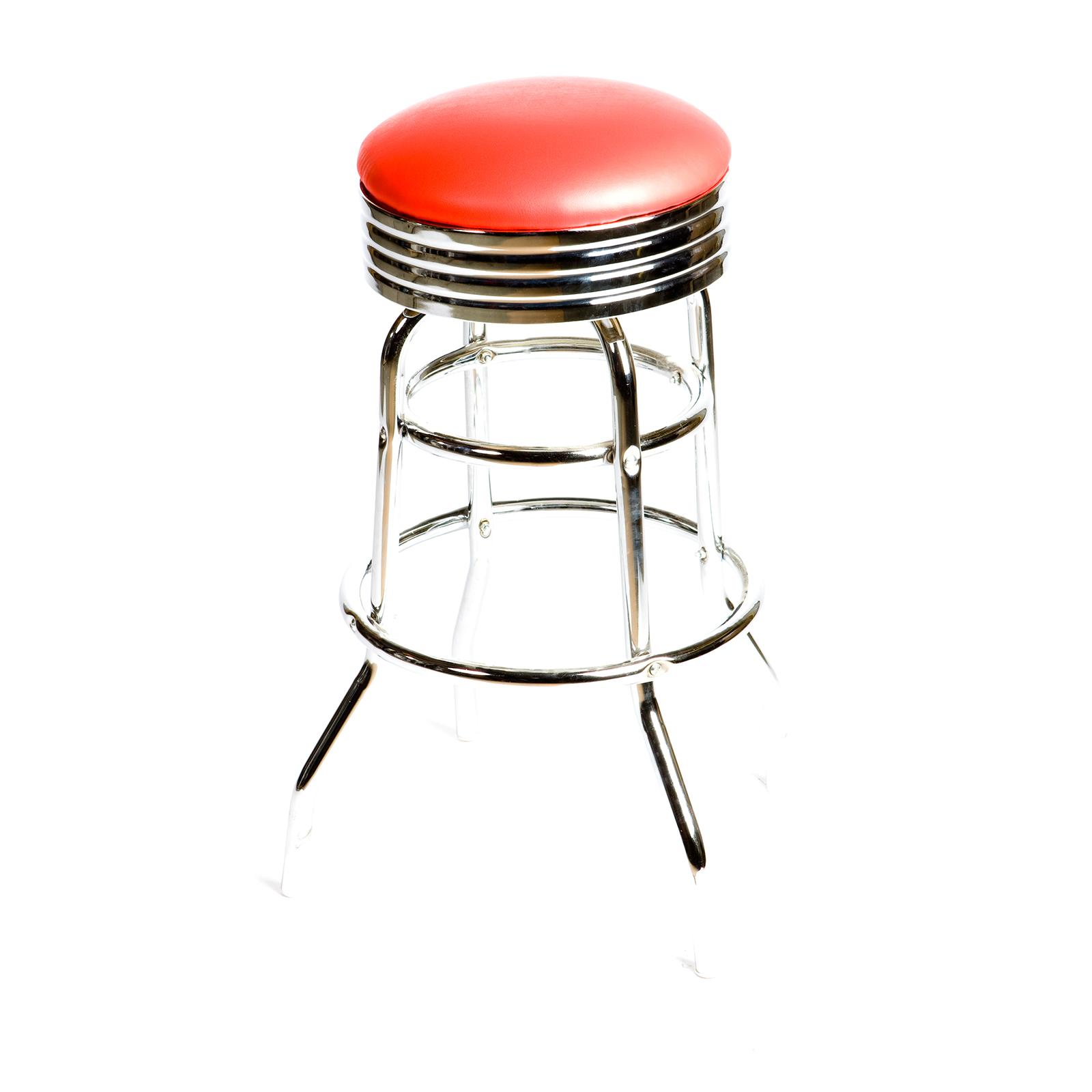 Oak Street SL2131-RED bar stool, swivel, indoor