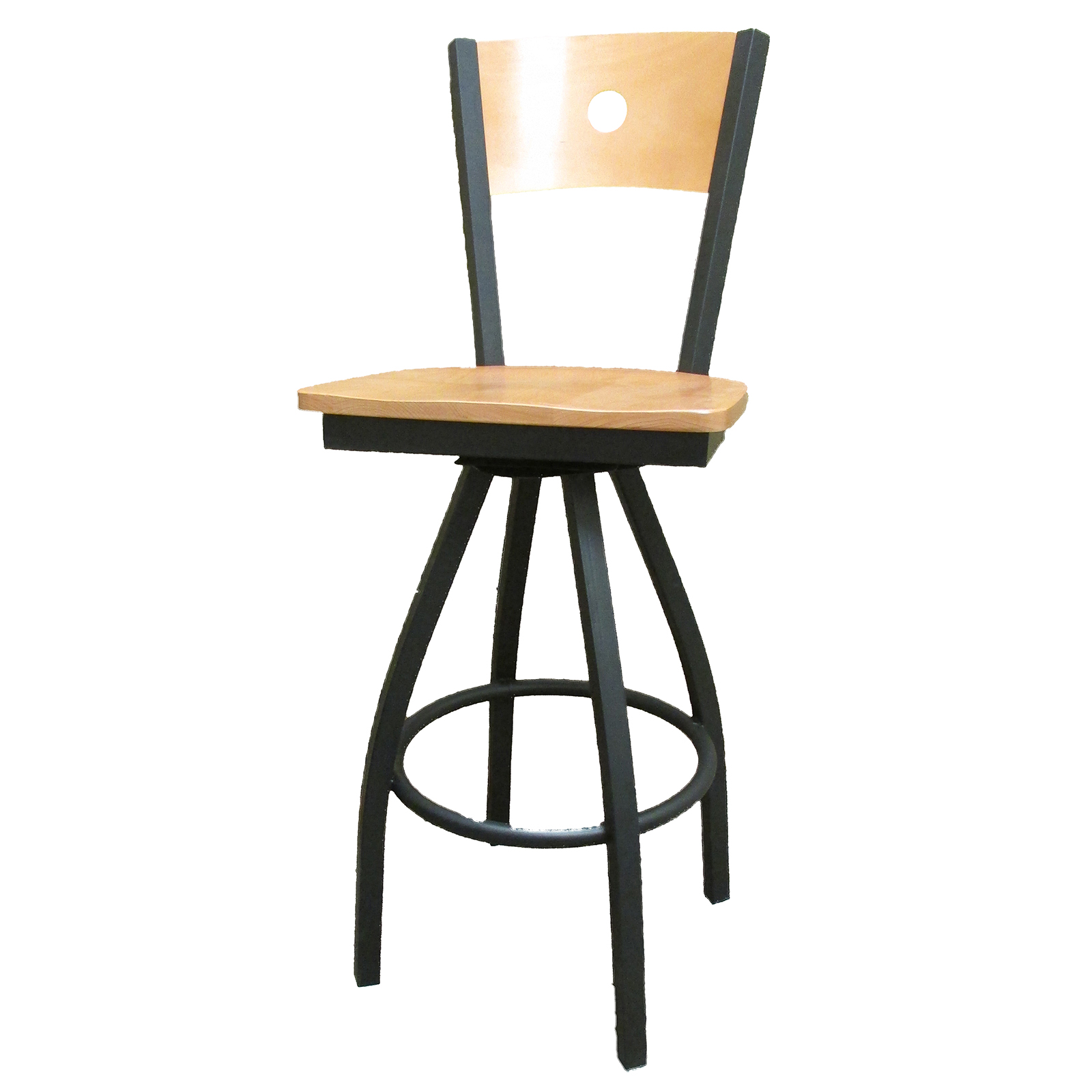 Oak Street SL2150-1S-B bar stool, swivel, indoor