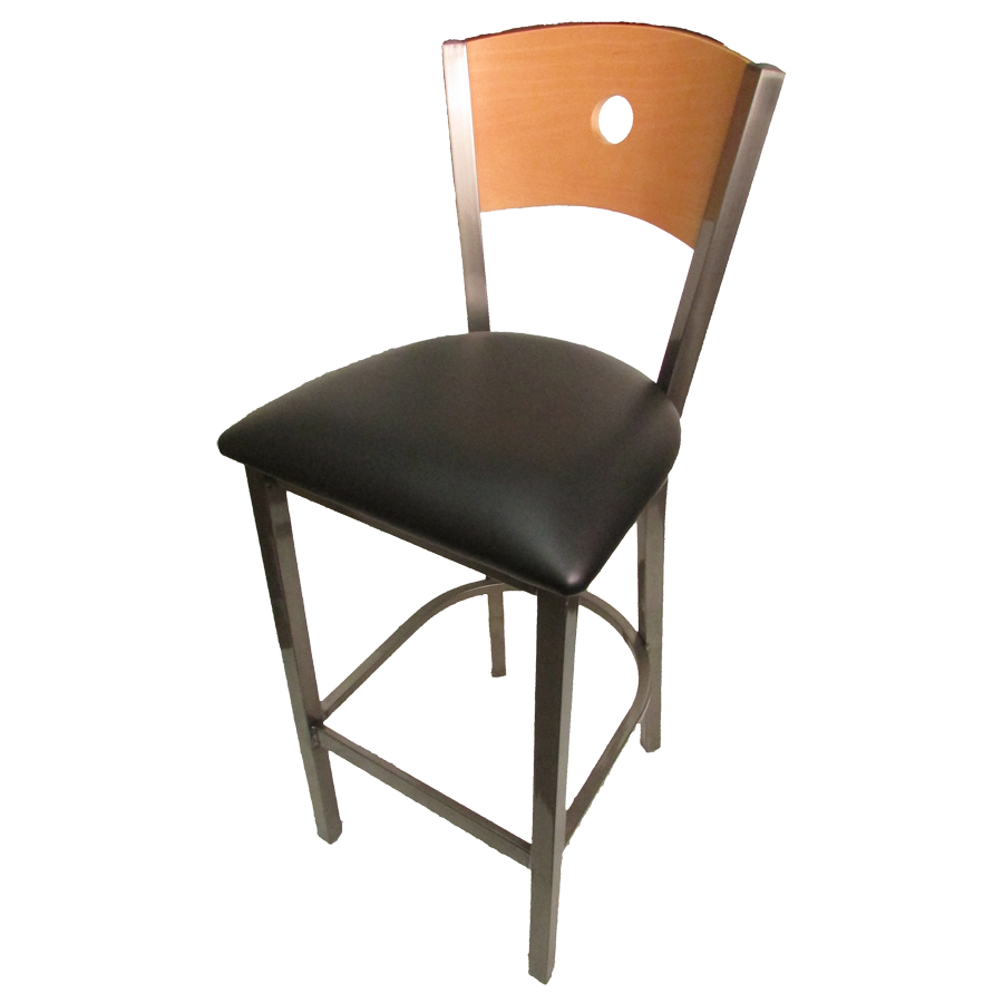 Oak Street SL2150CCS-1-B bar stool, indoor