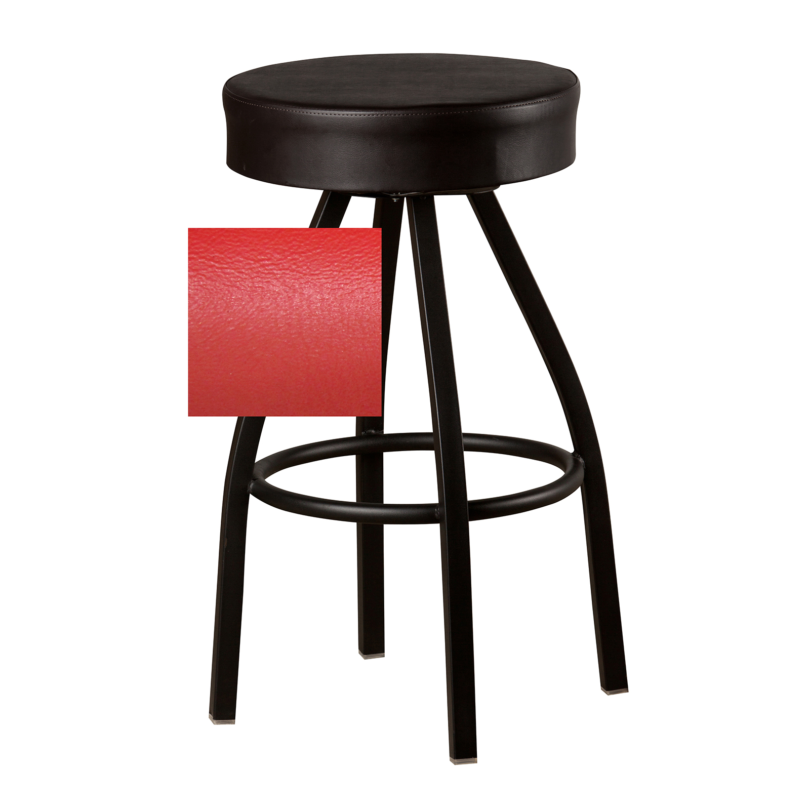 Oak Street SL3132-RED bar stool, swivel, indoor