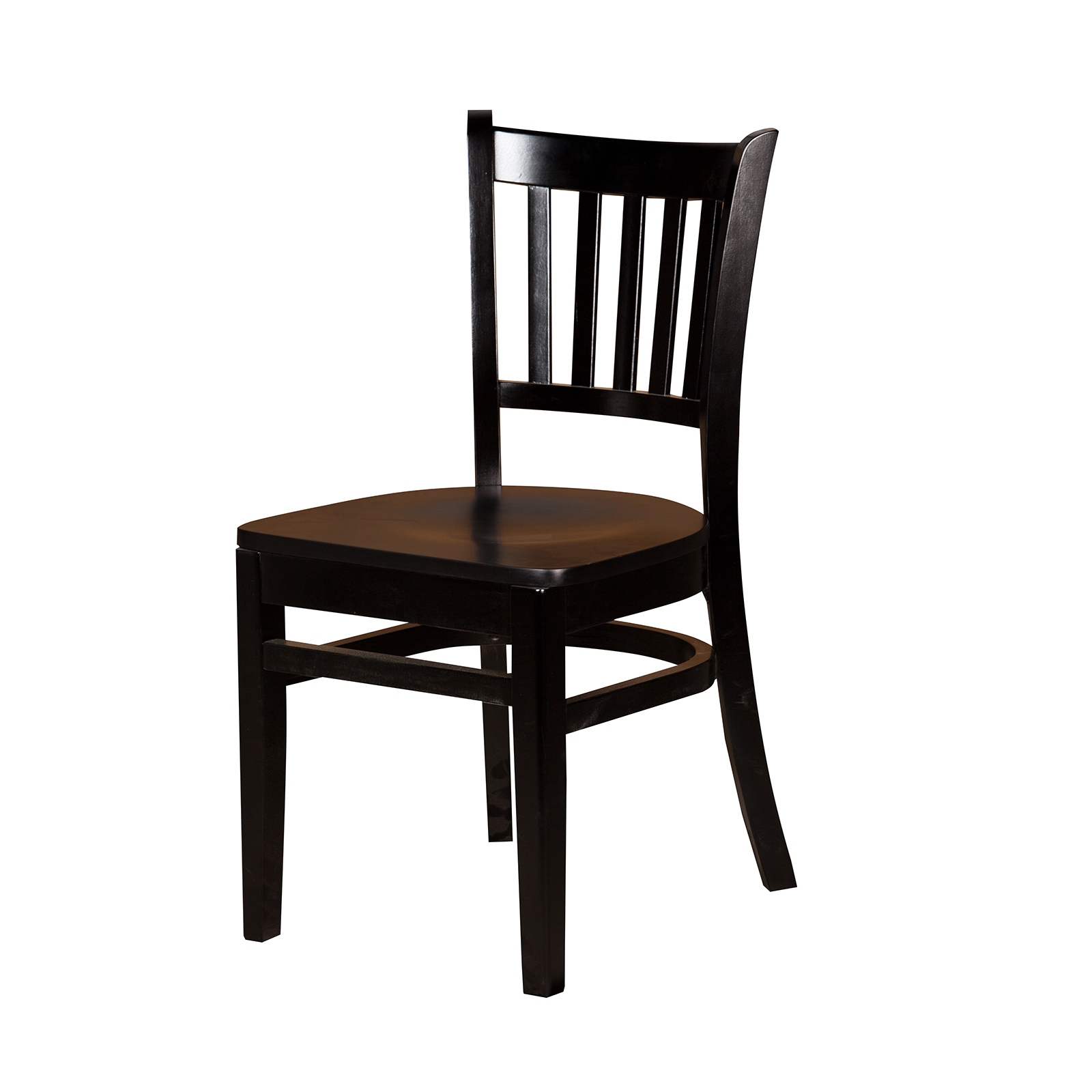 Oak Street WC102BLK chair, side, indoor
