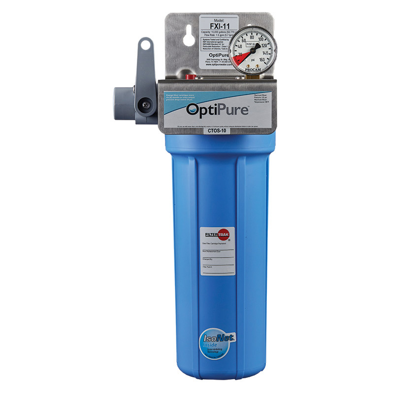 OptiPure FXI-11 water filtration system, for ice machines