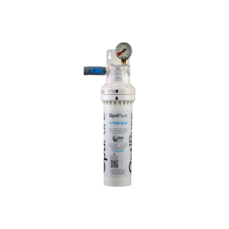 OptiPure QTI10-1 water filtration system, for ice machines