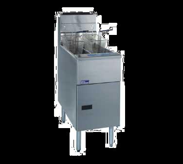 Pitco Frialator SG14T-S fryer, gas, floor model, split pot