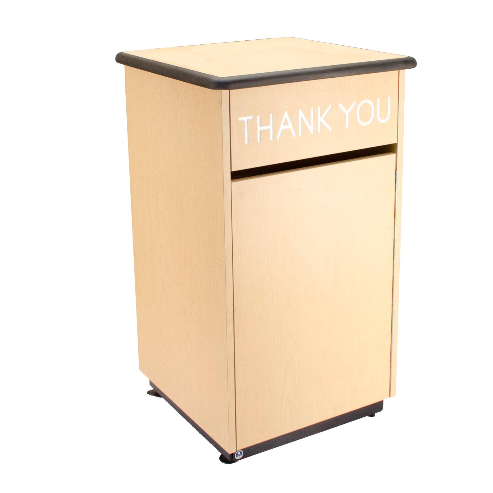 Plymold 80100DE trash receptacle, cabinet style