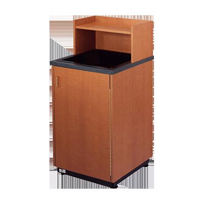 Plymold 80109DE trash receptacle, cabinet style