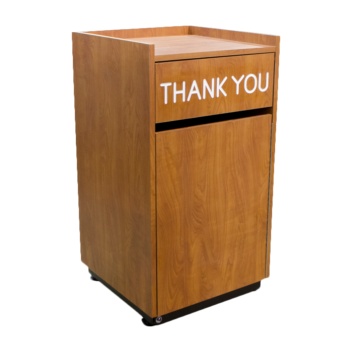Plymold 80501 trash receptacle, cabinet style