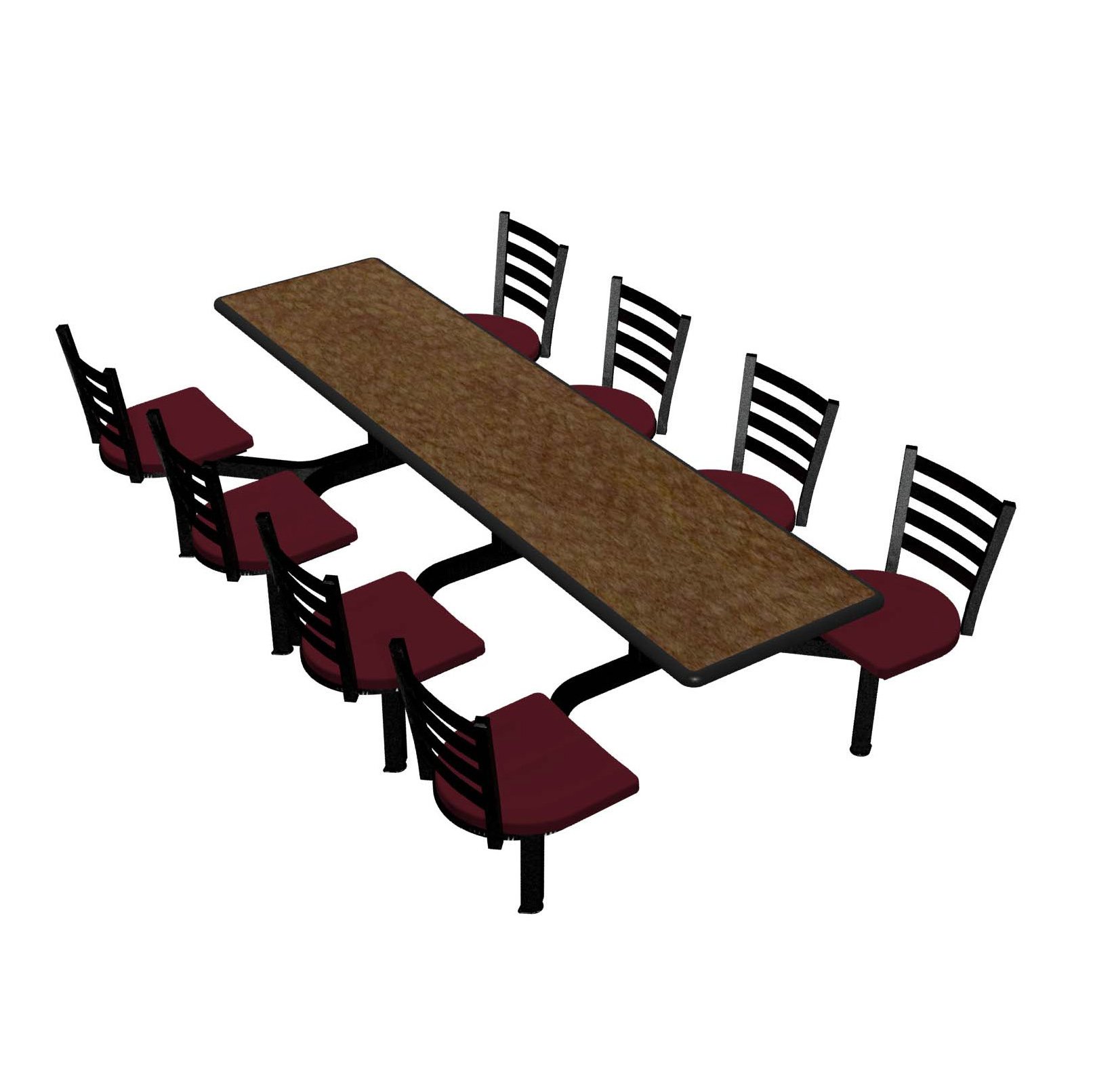Plymold CEIS008DEEN cluster seating unit, indoor