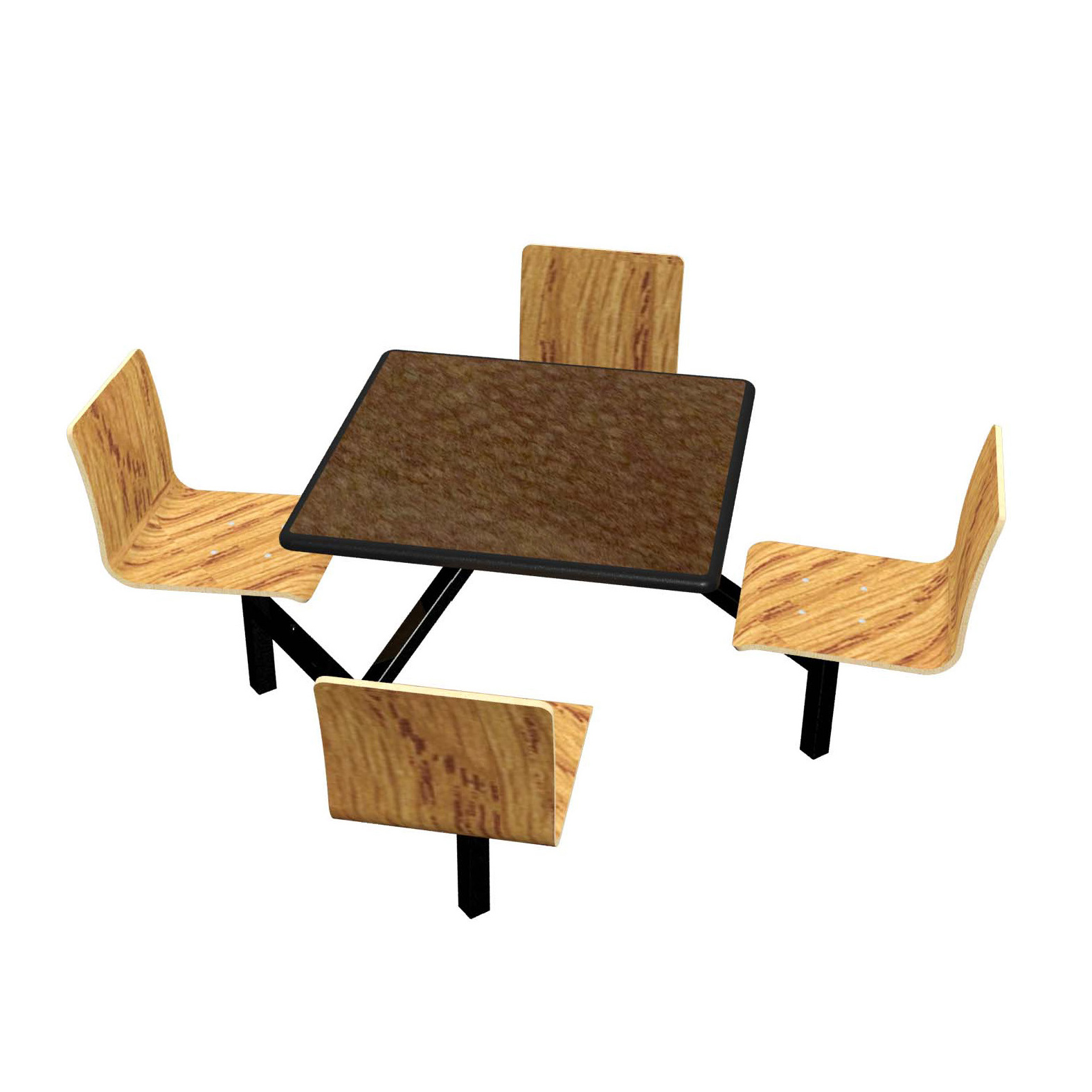 Plymold JUSQ004DELE cluster seating unit, indoor