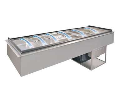 Piper Products/Servolift Eastern 3-CBDI cold food well unit, drop-in, refrigerated