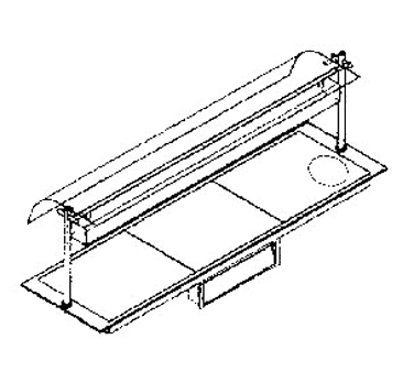 Piper Products/Servolift Eastern ND36050-OHD4 heated shelf food warmer
