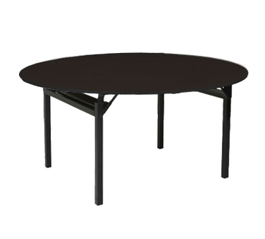 PS Furniture 600-66DIB folding table, round