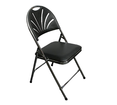 PS Furniture C700BLK/CH chair, folding, outdoor