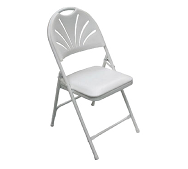 PS Furniture C700WH/WH chair, folding, outdoor